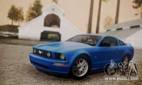 Ford Mustang GT 2005 v2.0 for GTA San Andreas
