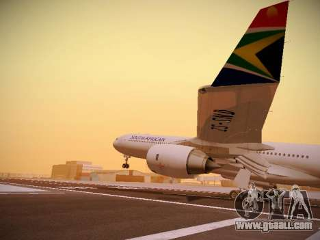 Airbus A340-600 South African Airways for GTA San Andreas bottom view