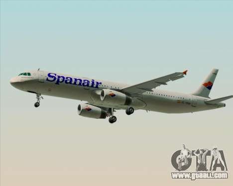 Airbus A321-231 Spanair for GTA San Andreas back left view
