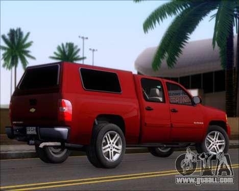 Chevrolet Silverado 2011 for GTA San Andreas right view