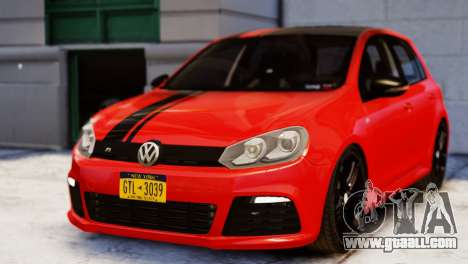 Volkswagen Golf R 2010 Racing Stripes Paintjob for GTA 4