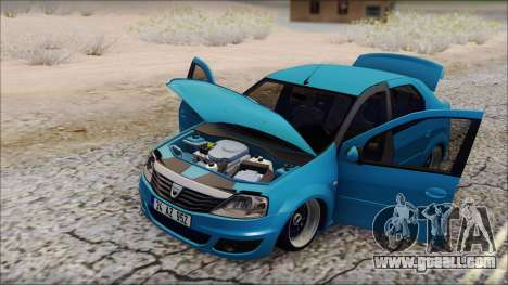 Dacia Logan BS GARAGE for GTA San Andreas back left view