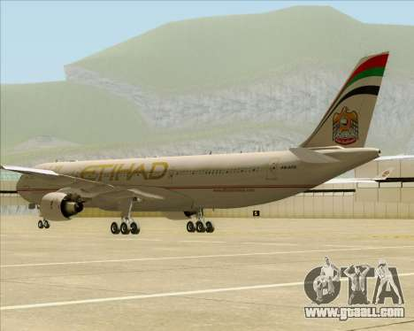 Airbus A330-300 Etihad Airways for GTA San Andreas right view