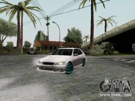 Toyota Altezza Addinol for GTA San Andreas back left view