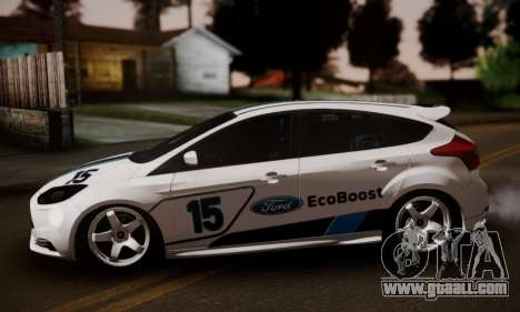 Ford Focus ST Eco Boost for GTA San Andreas back left view
