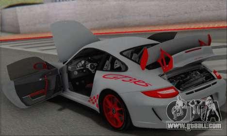 Porsche 911 GT3 2010 for GTA San Andreas interior