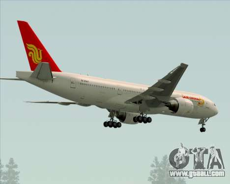 Boeing 777-200ER Air China for GTA San Andreas back view