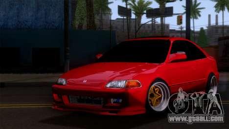 Honda Civic SI Coupe for GTA San Andreas