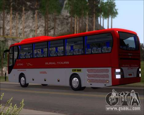 MAN Lion Coach Rural Tours 2790 for GTA San Andreas back left view