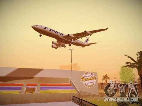 Airbus A340-300 Finnair for GTA San Andreas engine