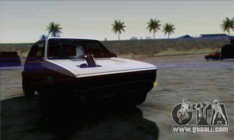 Volkswagen Golf Mk1 GTi for GTA San Andreas right view