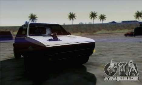 Volkswagen Golf Mk1 GTi for GTA San Andreas right view