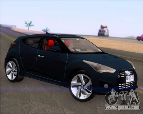 Hyundai Veloster 2013 for GTA San Andreas back left view