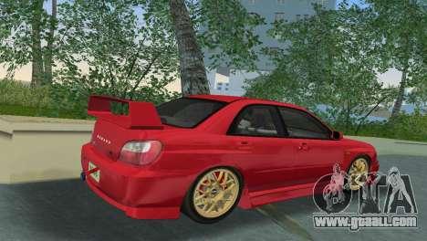 Subaru Impreza WRX 2002 Type 6 for GTA Vice City right view