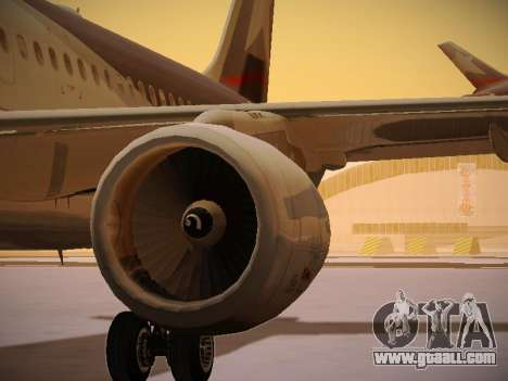 Airbus A320-214 LAN Airlines for GTA San Andreas engine