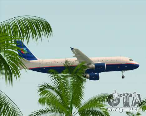 Airbus A320-232 United Airlines (Old Livery) for GTA San Andreas bottom view