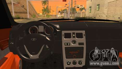 Lada 2170 Priora Orange for GTA San Andreas back left view