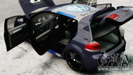 Volkswagen Golf R 2010 Polo WRC Style PJ2 for GTA 4 back view