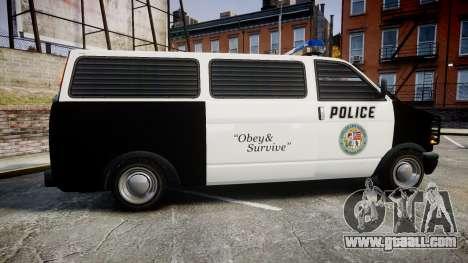 Declasse Burrito Police Transporter ROTORS [ELS] for GTA 4 left view
