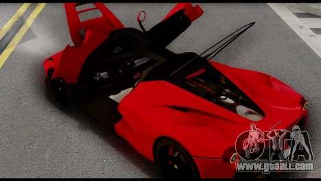 Ferrari LaFerrari 2014 (IVF) for GTA San Andreas right view