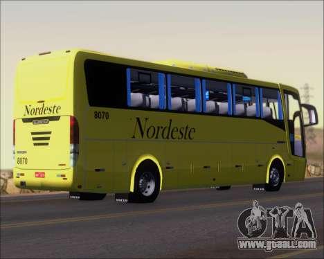 Busscar Elegance 360 Viacao Nordeste 8070 for GTA San Andreas right view
