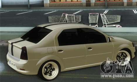 Dacia Logan 1.6 Street for GTA San Andreas left view