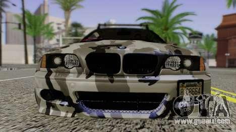 BMW M3 E46 Coupe 2005 Hellaflush v2.0 for GTA San Andreas back view