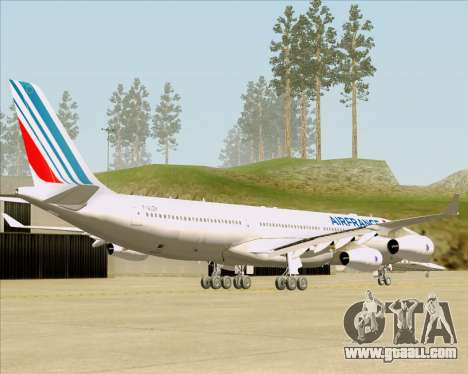Airbus A340-313 Air France (New Livery) for GTA San Andreas back left view