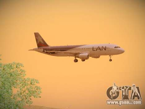 Airbus A320-214 LAN Airlines for GTA San Andreas back view
