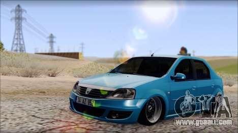 Dacia Logan BS GARAGE for GTA San Andreas