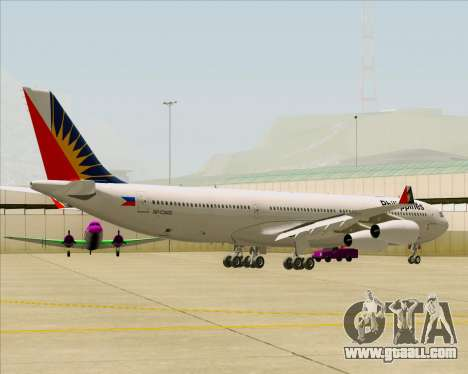 Airbus A340-313 Philippine Airlines for GTA San Andreas back view
