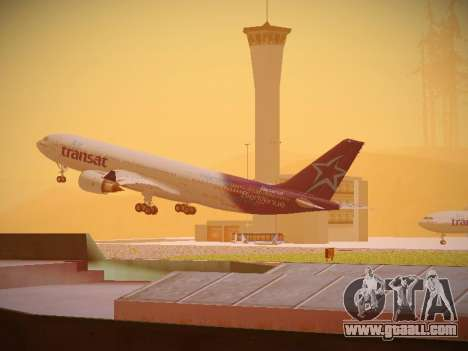 Airbus A330-200 Air Transat for GTA San Andreas back left view