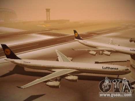Airbus A340-600 Lufthansa for GTA San Andreas inner view