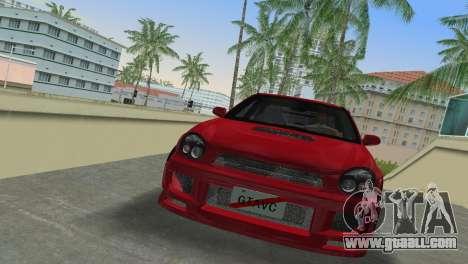 Subaru Impreza WRX 2002 Type 6 for GTA Vice City left view