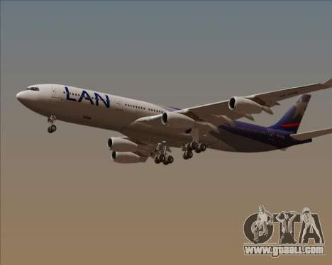 Airbus A340-313 LAN Airlines for GTA San Andreas side view
