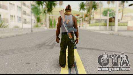 MR T Skin v8 for GTA San Andreas second screenshot