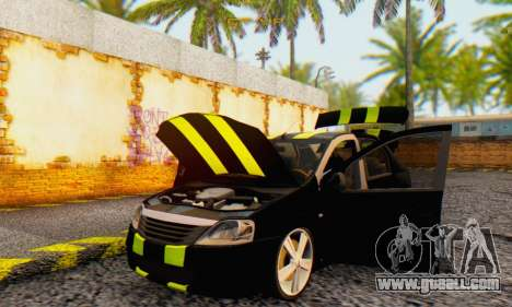 Dacia Logan Black Style for GTA San Andreas inner view