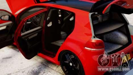 Volkswagen Golf R 2010 Racing Stripes Paintjob for GTA 4 back view