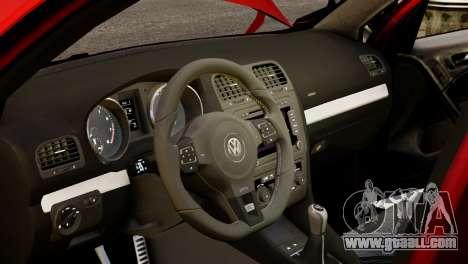 Volkswagen Golf R 2010 Racing Stripes Paintjob for GTA 4 inner view