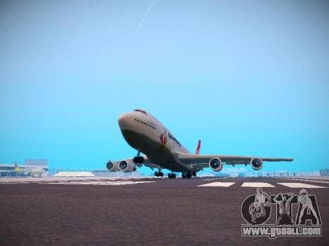 Boeing 747-438 Qantas Boxing Kangaroo for GTA San Andreas bottom view