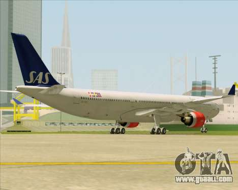 Airbus A330-300 Scandinavian Airlines System. for GTA San Andreas right view