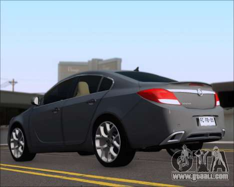 Opel Insignia OPC for GTA San Andreas back left view
