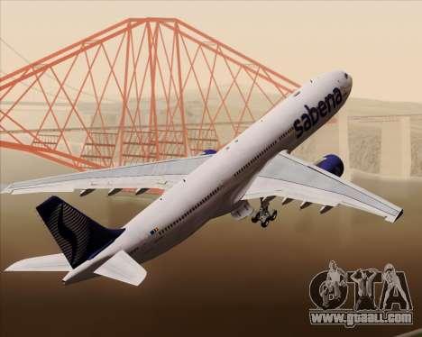 Airbus A330-300 Sabena for GTA San Andreas