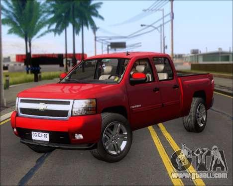 Chevrolet Silverado 2011 for GTA San Andreas left view