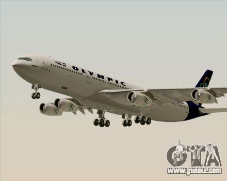 Airbus A340-313 Olympic Airlines for GTA San Andreas engine