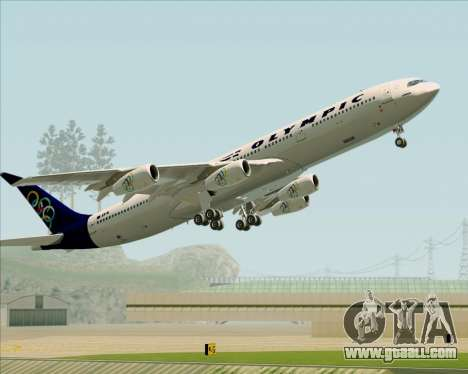 Airbus A340-313 Olympic Airlines for GTA San Andreas wheels