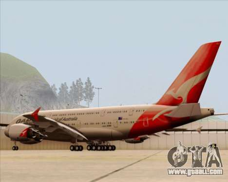 Airbus A380-841 Qantas for GTA San Andreas right view