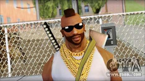 MR T Skin v10 for GTA San Andreas third screenshot