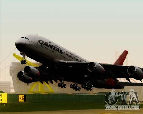 Airbus A380-841 Qantas for GTA San Andreas inner view