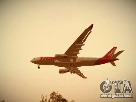 Airbus A330-200 TAM Airlines for GTA San Andreas back view